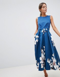 Платье с принтом на юбке Closet - Мульти