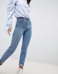 Светлые джинсы слим в винтажном стиле Lost Ink - Синий
