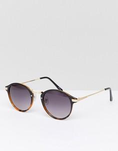 Черно-черепаховые круглые солнцезащитные очки Jeepers Peepers - Коричневый