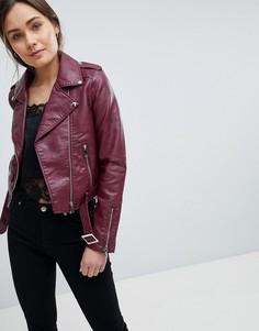 Куртка из искусственной кожи Parisian - Красный