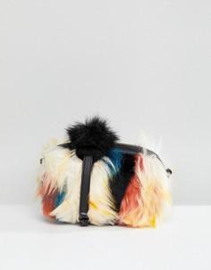 Сумка через плечо в стиле пэтчворк из искусственного меха UGG Janey - Мульти
