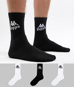 3 пары черно-белых носков Kappa Banda - Белый