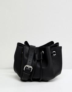 Сумка через плечо Pieces - Черный