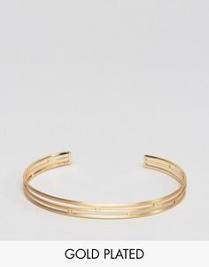 Позолоченный браслет Pilgrim - Золотой
