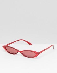 Модные очки кошачий глаз ASOS DESIGN - Красный