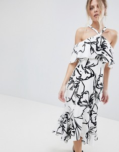 Платье халтер с принтом Coast - Белый