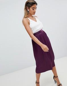 Юбка миди с плиссировкой AX Paris - Фиолетовый