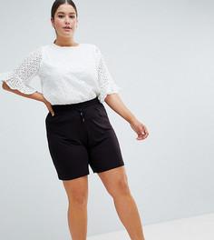 Удлиненные шорты с поясом на шнурке ASOS DESIGN Curve - Черный