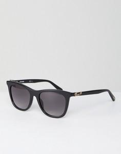 Черные квадратные солнцезащитные очки LOVE Moschino - Серый