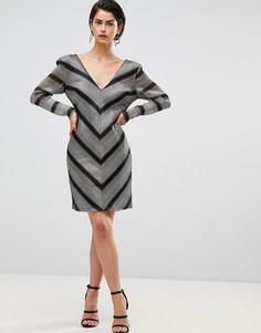 Платье Forever Unique - Серебряный
