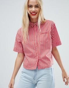 Рубашка в полоску Tommy Jeans - Красный