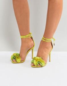 Босоножки на каблуке цвета лайма Public Desire Sugar - Зеленый