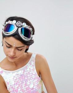 Защитные очки с декоративной отделкой Savage Rainbow - Мульти