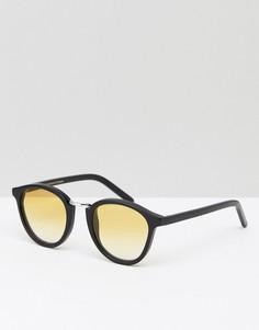 Солнцезащитные очки в круглой черной оправе Monokel Eyewear Nalta - Черный