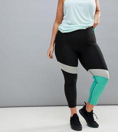 Леггинсы в стиле колор блок Nike Plus Training Power - Черный