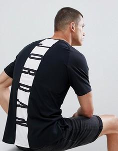 Черная футболка с принтом на спине Jordan Alpha Dry 889713-013 - Черный