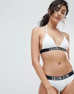 Плавки бикини с заниженной талией и логотипом Calvin Klein - Белый