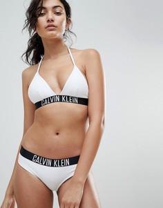 Бикини-топ с логотипом Calvin Klein - Белый