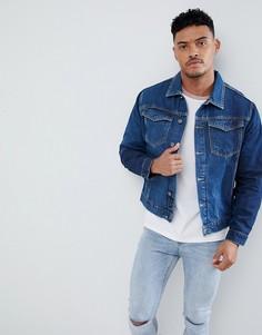 Синяя джинсовая куртка с выбеленной отделкой Religion - Синий