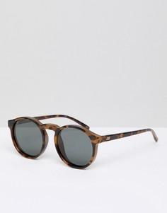 Круглые солнцезащитные очки с поляризованными линзами Le Specs - Коричневый