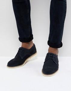 Замшевые темно-синие туфли со шнуровкой H By Hudson Andover - Темно-синий
