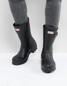 Черные короткие резиновые сапоги Hunter Original - Черный