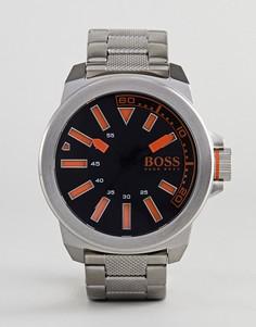 Часы с ремешком из нержавеющей стали BOSS Orange By Hugo Boss New York - Серебряный