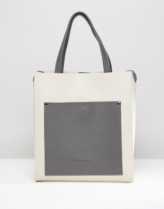 Сумка-тоут без подкладки с одним карманом Claudia Canova - Кремовый