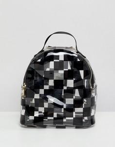 Мини-рюкзак с принтом в клетку ASOS DESIGN - Мульти
