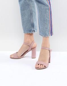 Босоножки на блочном каблуке New Look - Розовый