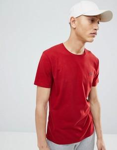 Красная футболка с круглым вырезом и логотипом Abercrombie & Fitch - Красный