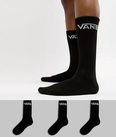Набор из 3 пар черных носков Vans Classic VXSEBLK - Черный