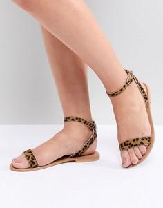 Кожаные сандалии ASOS DESIGN Felon - Мульти