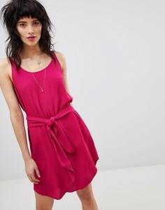 Платье на бретелях с завязкой BA&SH - Красный Ba&Sh
