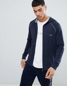 Куртка на молнии с капюшоном BOSS - Темно-синий