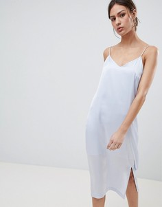 Платье-комбинация миди Pieces Eva - Синий