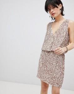 Платье с пайетками Deby Debo Horus - Розовый
