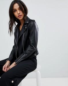 Байкерская куртка из искусственной кожи Lipsy - Черный