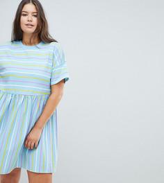Свободное платье в полоску ASOS DESIGN Curve - Мульти