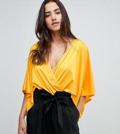 Боди-кимоно с запахом Flounce London - Оранжевый