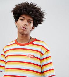 Оранжевая футболка из органического хлопка в полоску Puma эксклюзивно для ASOS - Оранжевый