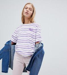 Oversize-футболка из органического хлопка в полоску 2 цветов эксклюзивно от Puma - Фиолетовый