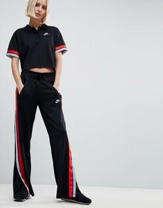 Черные спортивные брюки Nike Retro - Черный