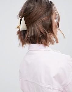 Большая треугольная заколка для волос ASOS DESIGN - Белый
