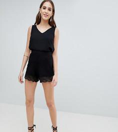 Юбка-шорты с кружевом ASOS DESIGN Tall - Черный