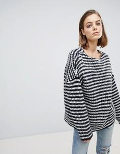 Oversize-джемпер крупной вязки в монохромную полоску AllSaints - Мульти