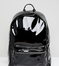 Лакированный рюкзак Monki - Черный