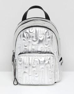 Миниатюрный рюкзак с тиснением логотипа Juicy By Juicy Couture - Серебряный