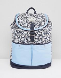 Рюкзак в стиле колор блок с цветочным принтом Jack Wills - Темно-синий