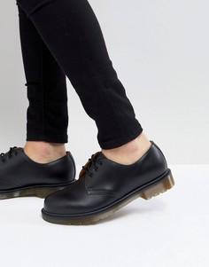 Черные туфли с 3 парами люверсов Dr.Martens 1461 PW - Черный